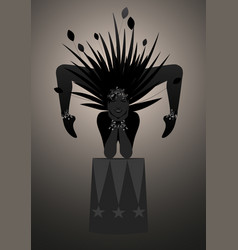 Backlist silhouette contortionist dressed vector