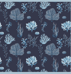 Beautiful seamless underwater pattern vector