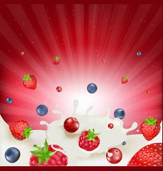 berry mix border vector image
