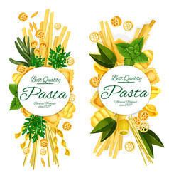 Best quality italian pasta food posters vector
