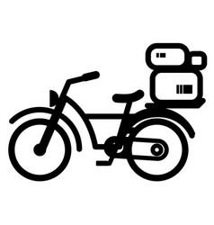 Bicycle delivery stencil vector