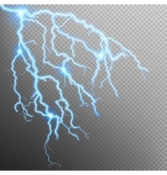 Blue lightning effect EPS 10 vector image