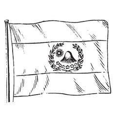 Bolivian flag vintage vector