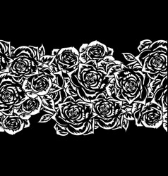 Bouquet of flowers monochrome vector