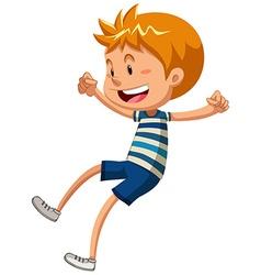 Boy with happy face vector