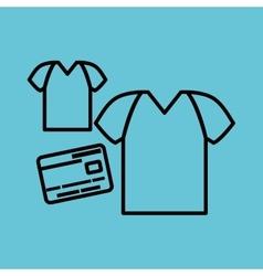 Buy online over white background t-shirt design vector