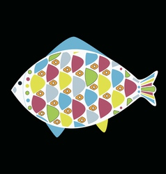 cartoon funny fish Underwater life vector image
