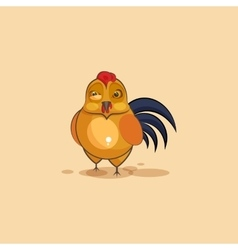 Cock sticker emoticon with angry emotion vector image