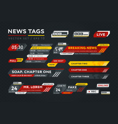 collection news tags vector image