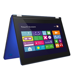 Convertible ultrabook with metro icons on display vector image