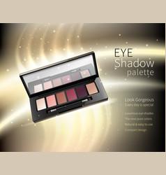 Cosmetics makeup realistic advertisement poster vector