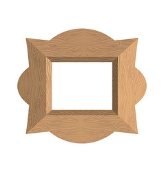 Creative wooden frame of an empty photo fra vector