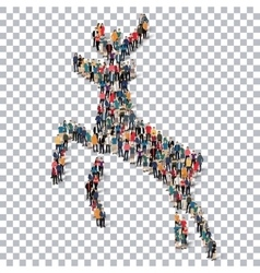 Deer isometrick people 3d vector