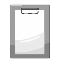 Document plan icon gray monochrome style vector
