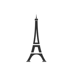 eiffel tower icon flat vector image