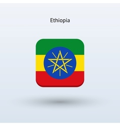 Ethiopia flag icon vector