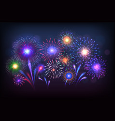Fireworks background party celebration light vector