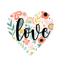 Flowers and slogan print design vector