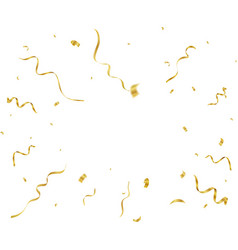 Gold confetti and streamers vector