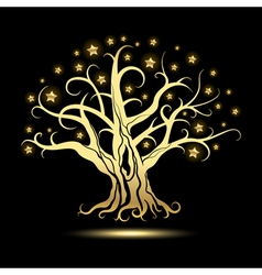 GoldenTree with Stars vector