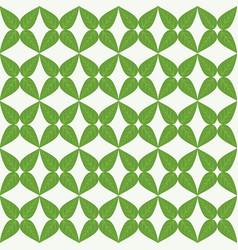 Green leaves in a spring green background vector