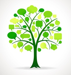 Green Single Speech Bubble Tree vector image