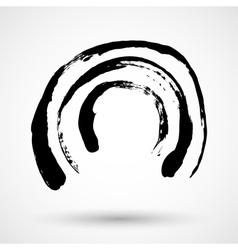 Grunge circle frame vector