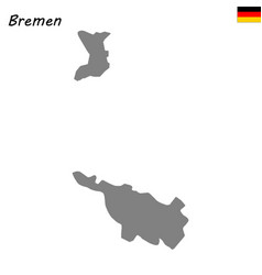 High quality map is a state of germany vector