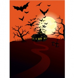 hunted house vector image