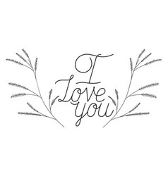 I love you mom label isolated icon vector