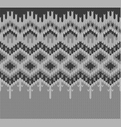 icelandic sweater knitting lopapeysa border vector image