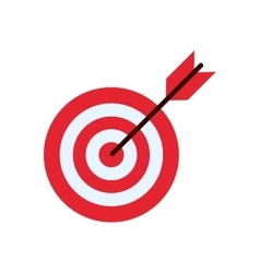 Isolated target with arrow design vector