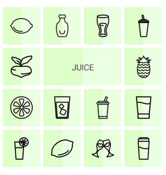 juice icons vector image