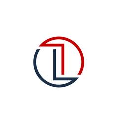 Letter circle line logo icon design vector