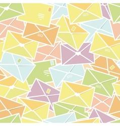 Love letters envelopes seamless pattern background vector