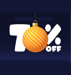 merry christmas big sale banner christmas sale 70 vector image