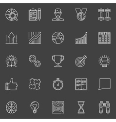 Motivation and success line icons vector image