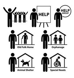 Non profit social service responsibilities vector