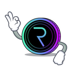 Okay request network coin character cartoon vector