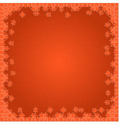 Orange transparent puzzles pieces - jigsaw vector