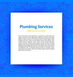plumbing services paper template vector image