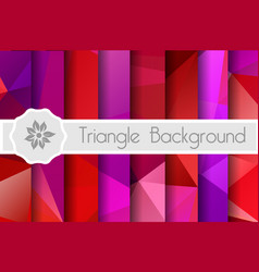 polygonal background for craft vector image