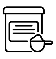 Protein jar icon outline style vector