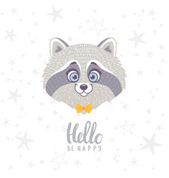 Raccoon cute vector