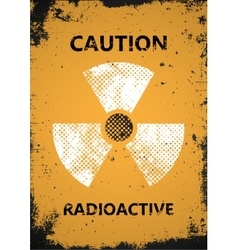 radioactive poster Caution radioactive poster vector image