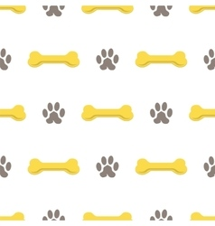 Seamless Bones for Dog Pattern vector image