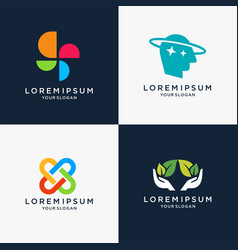 Set of modern logo design vector