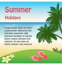 summer holiday web and print template - tropical vector image