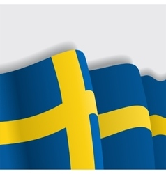 Swedish waving Flag vector