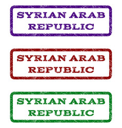 Syrian arab republic watermark stamp vector